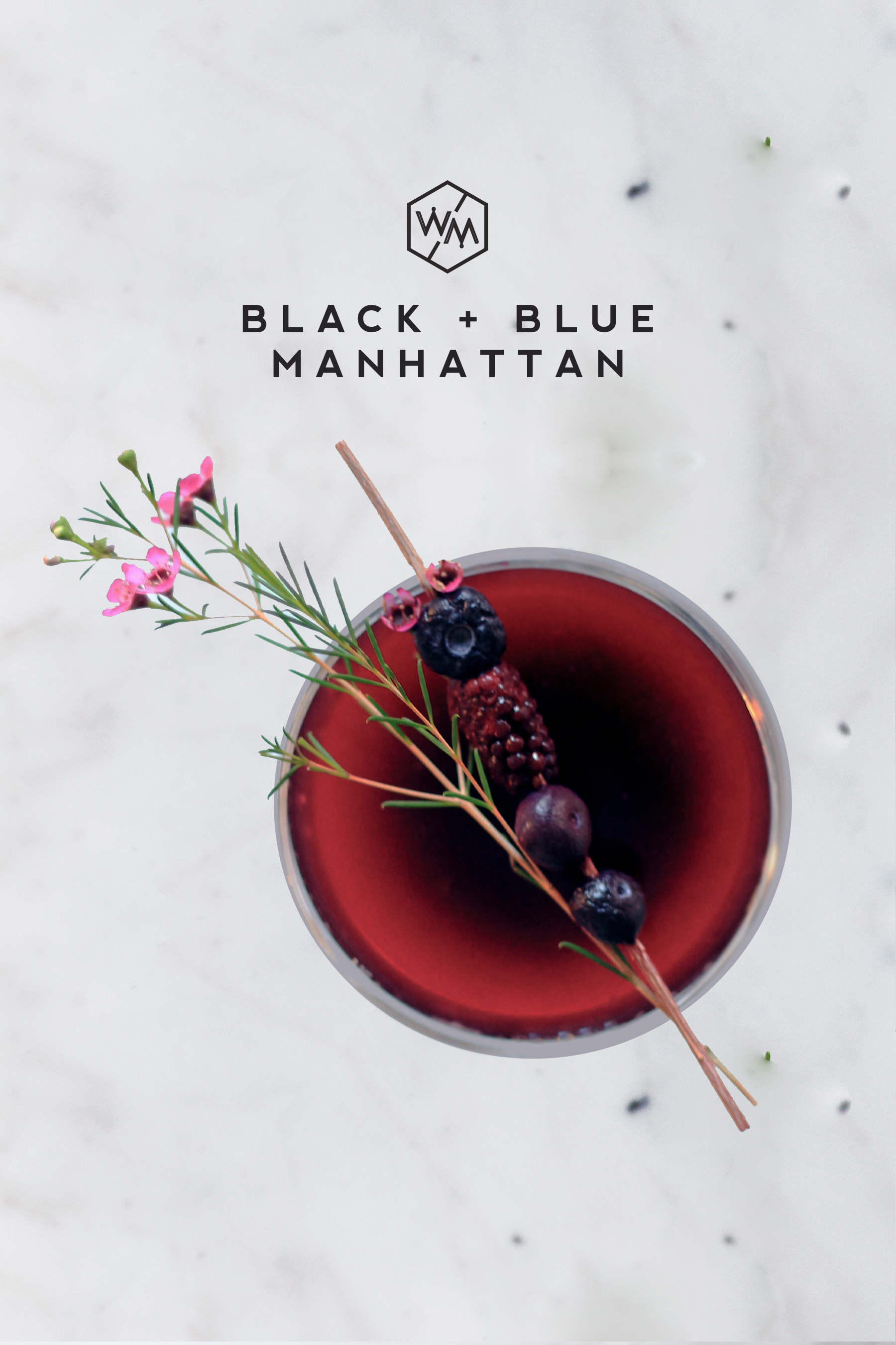Black + Blue Manhattan - Whiskey Muse