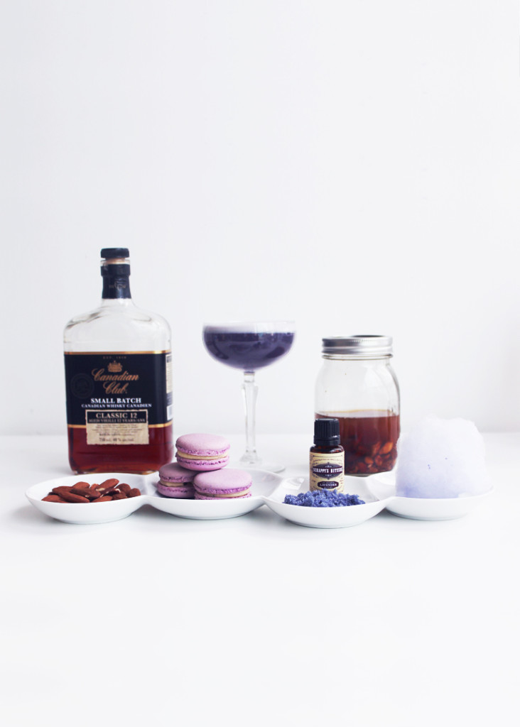 Lavender Macaron Champagne Cocktail - Whiskey Muse