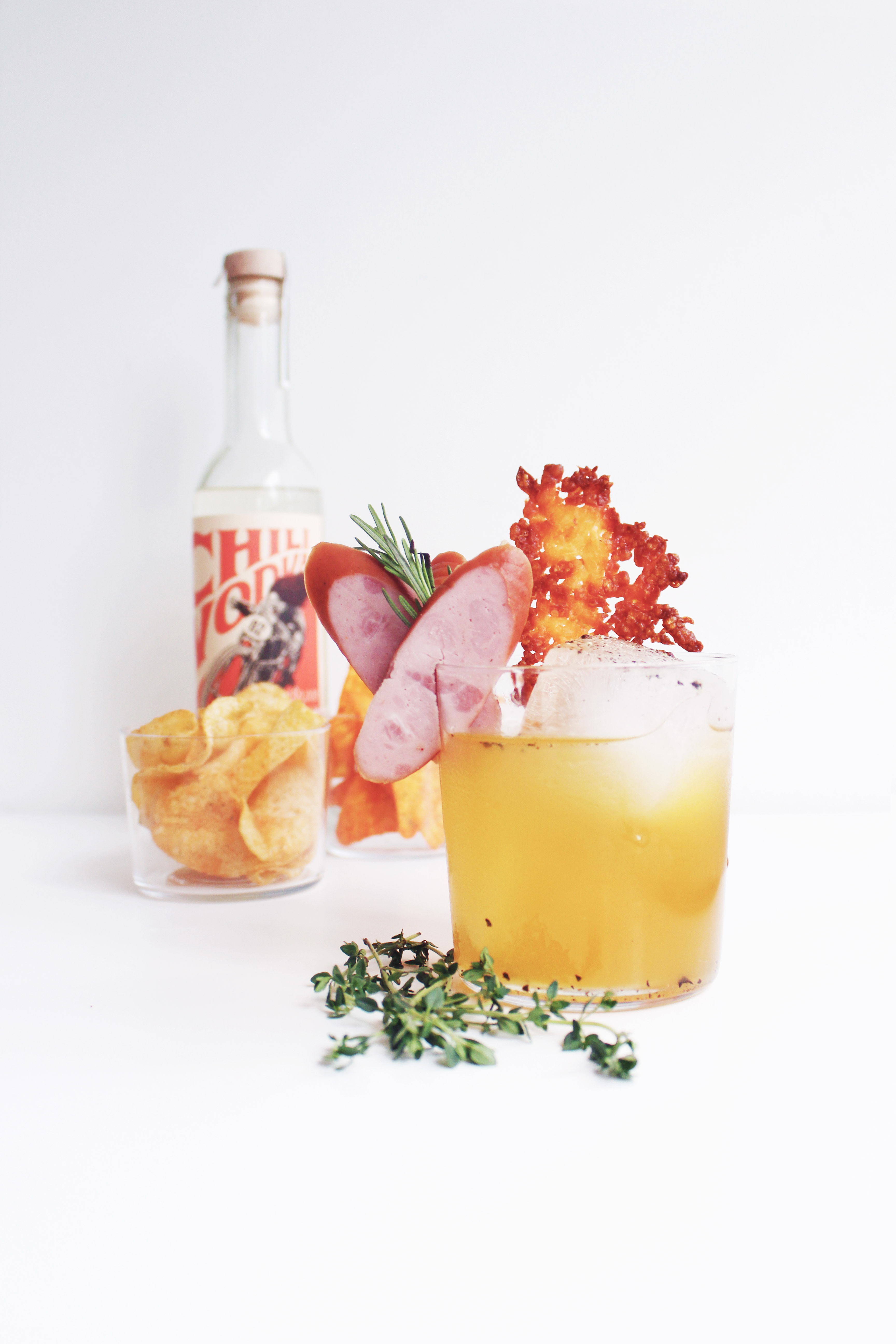 Ham + Pineapple Pizza Cocktail - Whiskey Muse