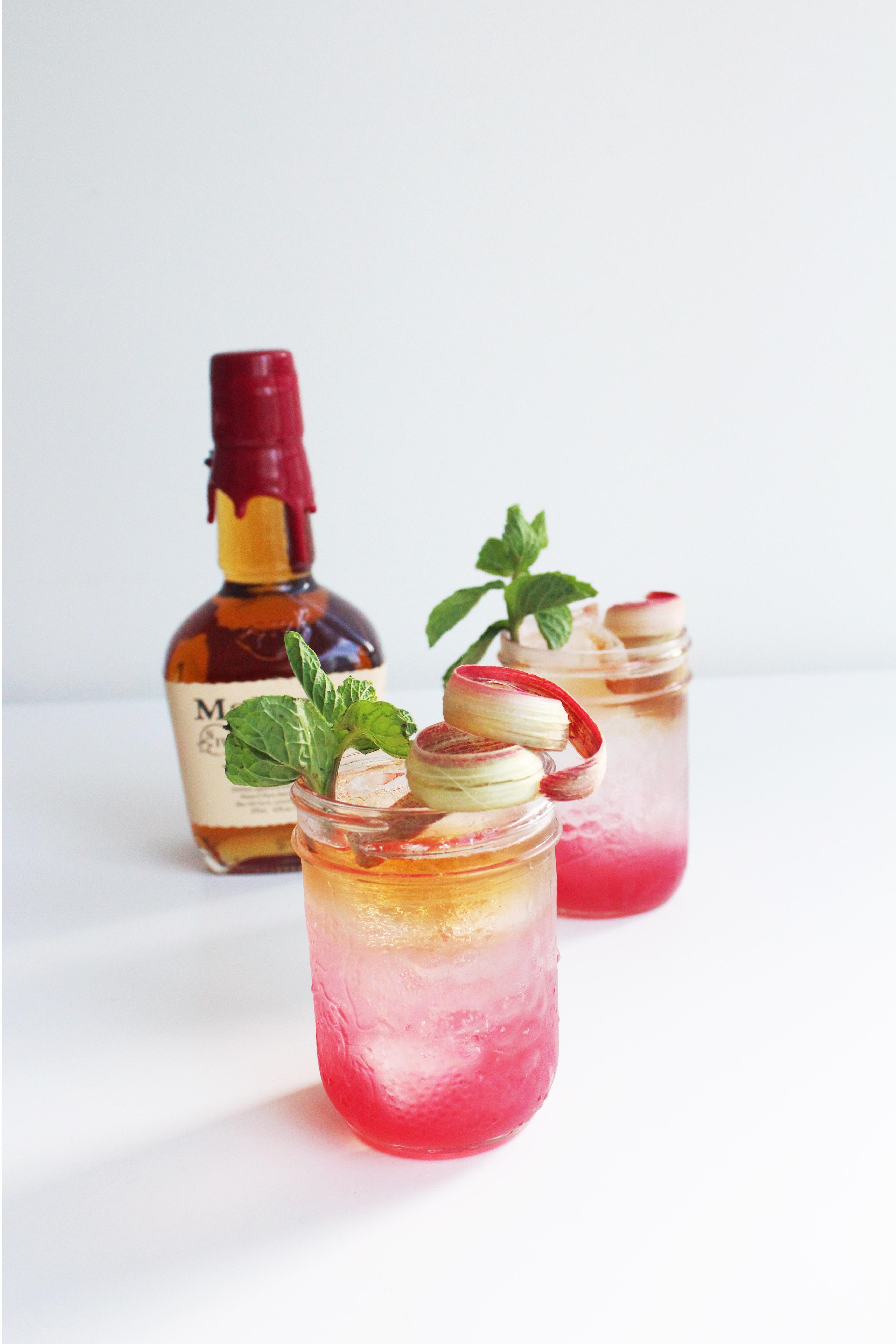 Rhubarb Julep - Whiskey Muse