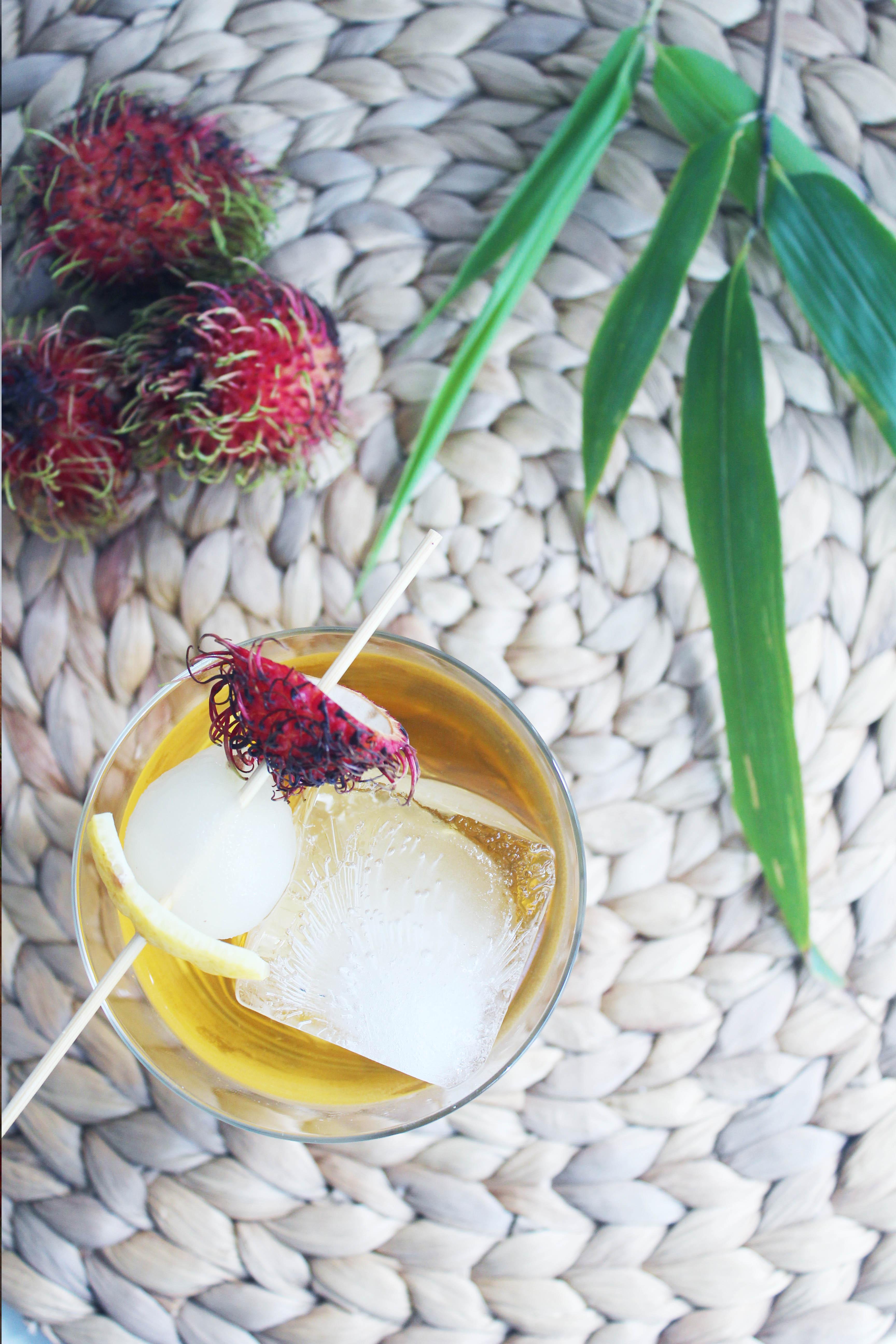 Rambutan Green Tea Cocktail - The Whiskey Muse