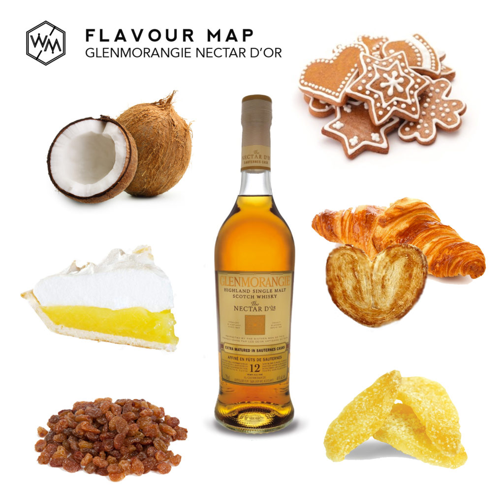 Glenmorangie Nectar D'or Flavor Map