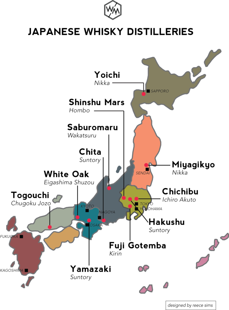 Japanese Whisky Distilleries