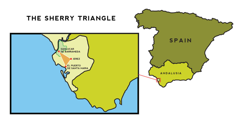 sherry triangle map - whiskey muse